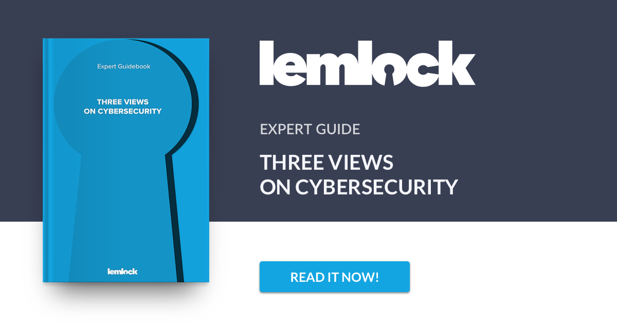 Lemlock ebook. Expert Guidebook: Three vievs on cybersecurity